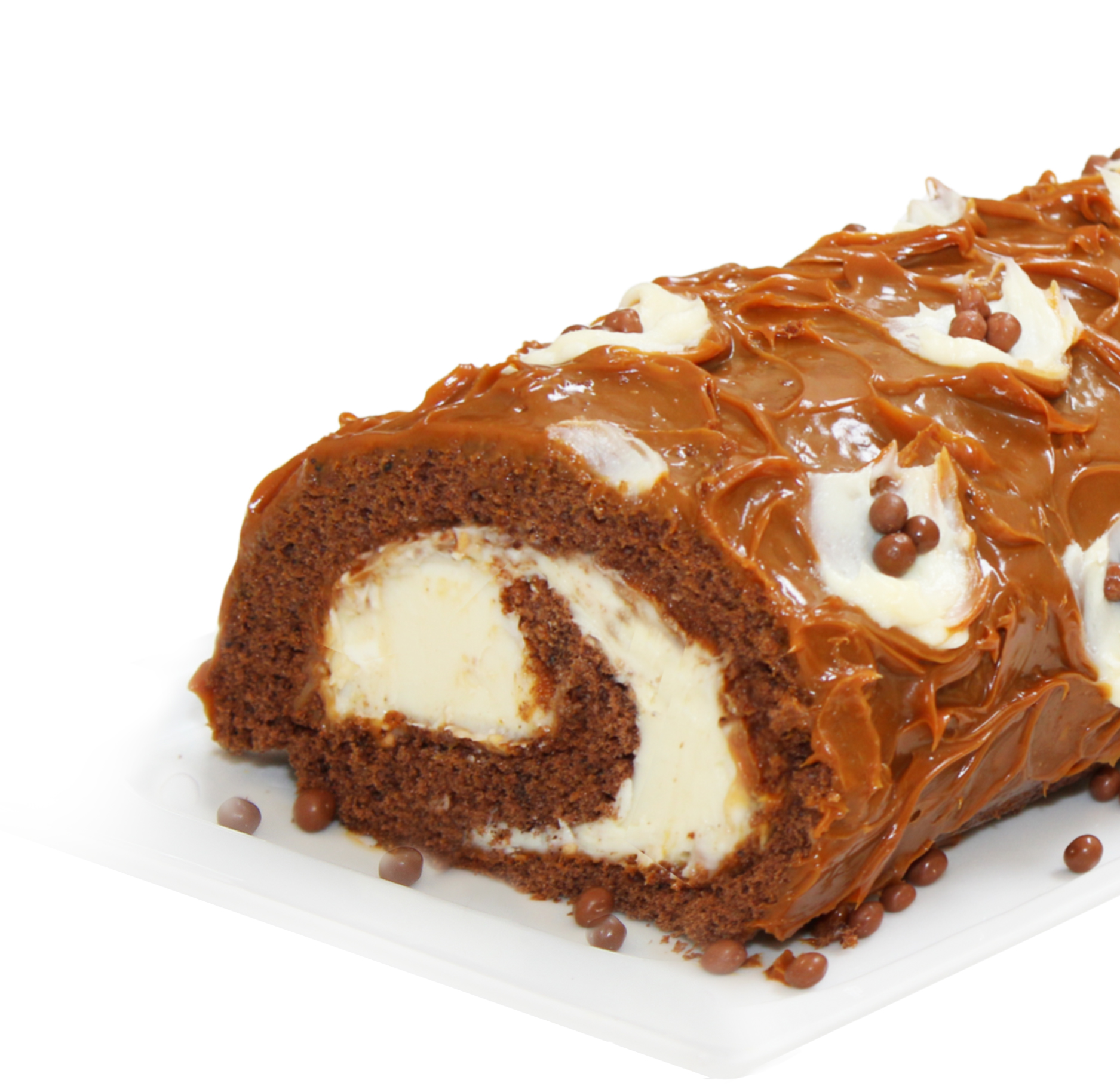 Caramel and White Chocolate Roll