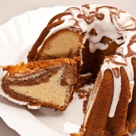 Hazelnut Marble Cake