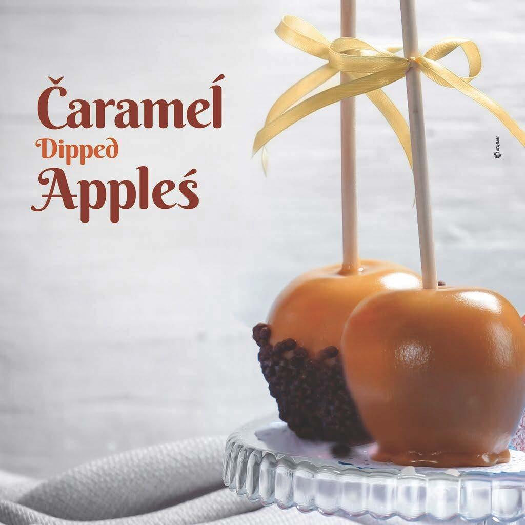 Caramel dipped apples